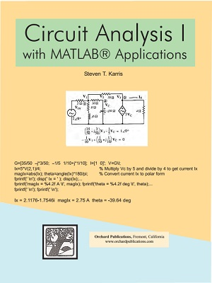 Circuit Analysis 1 with Matlab